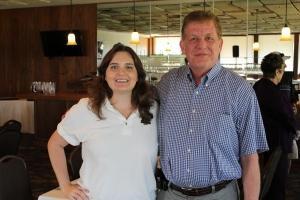 Greg Wood with Tee Time treasurer, Stefanie Sturman